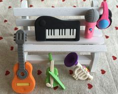 6 Pcs/Lot Cute Kawaii Several kinds of Musical Instrument Rubber Eraser Student Learning Stationery  for Child Creative Gift