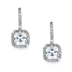 Nina Square Cubic Zirconia Earrings