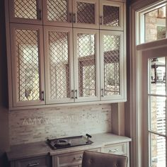 Reasons Why Antique Mirrored Kitchen Cabinet Doors Is Getting More Popular In The Past Decade Antique Kitchen Cabinets, Refacing Kitchen Cabinets, Painting Kitchen Cabinets, Rustic Cabinets, Upper Cabinets, Kitchen Cabinetry, Glass Cabinet Doors, Mirror Cabinets, Kitchen Cabinet Doors