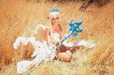 My Janna cosplay from League of Legends  I made everything including the staff!
