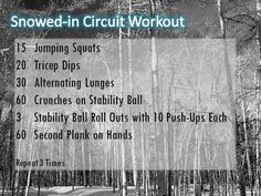 You can't always make it to the gym or exercise outside during the snowy winter. Here is a great way to sweat in the comfort of your own home!