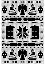 Dr. Who knitting pattern - Daleks and timemachine