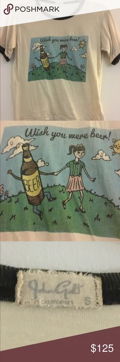 Wish you were beer Nadine No stains or holes. Also listed via eBay under username vulmer2013. Make offers if interested. Brandy Melville Tops
