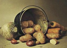 Robert Spear Dunning  Still Life with Root Vegetables  1858