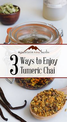 3 Ways to Use Turmeric Chai Tea in Drinks, Cooking, & Body Care: Many of us think of tea when we hear the word chai. But there's more than meets the eye, when it comes to chai! Join us as we explore some different ways to enjoy the potent spices in our Turmeric Chai blend.