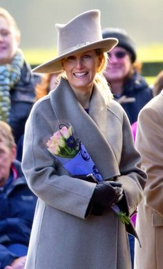 Countess of Wessex, December 30, 2012 in Philip Treacy