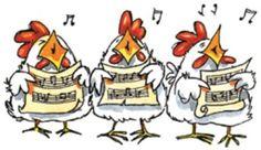 Caroling Chickens