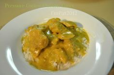 This is an adaptation of a few chicken curry recipes.  This is a great meal to serve on a cold winters day.  Easy to prepare and very quick in the pressure cooker.    Freezes well for once a month cooking.