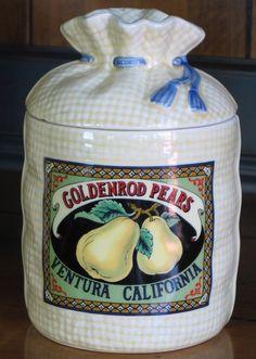 Goldenrod Pears, Ventura, California - Canister (Tea)