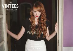 She is wearing Rocanrol #thevintees #ontheroad #spring2013 #ecological #organiccotton #tshirts