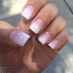 Nails by Hana... Pink and white ombre SNS - Yelp