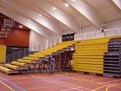 Quattro: Graderías Retractiles Landscape Architecture Degree, Gym Architecture, Sport Bar Design, Auditorium Design, 3d Modelle, Sports Complex, Sport Inspiration, House Rooms, Indoor