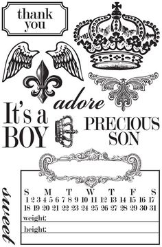 Teresa Collins chic bebe' boy stamps...........they don't sell them anymore : (
