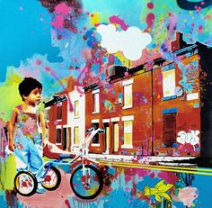 "Saatchi Online Artist James Tebbutt; Painting, ""Mean Streets"" #art"