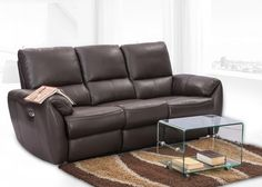 Laze 2 Seater Leather Recliner from Durian is a motorised recliner comes in leather upholstery. You can now adjust your comfort levels with a tiny button.