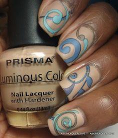 Nice abstract nail design
