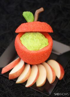 Halloween Witches Party Food- Poison Apple Party Dip