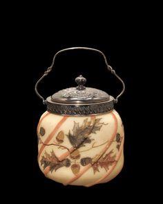 Covered Jar, Mt. Washington Glass Company, 1890-1895   Corning Museum of #Glass