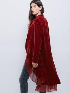 Free People Swingy Velvet Jacket, £168.00