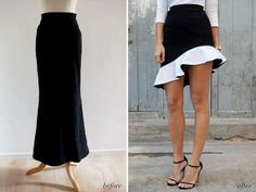 DIY Ruffled Skirts - This 'a pair and a spare' DIY Bottom is Inspired by Top Fashion Des (GALLERY)