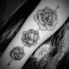 Blackwork Rose Tattoo by Ben Doukakis