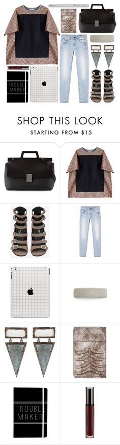 """""""teen chic"""" by foundlostme ❤ liked on Polyvore featuring Brunello Cucinelli, Von Sono, Yves Saint Laurent, L. Erickson, ADORNIA, Alexander McQueen, Stila, Yard-O-Led, denim and Tee"""