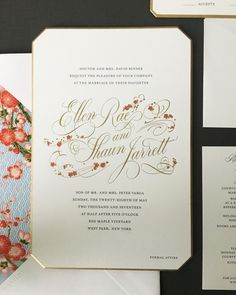 Traditional wedding invitation etiquette line by line bell from our pinterest pages stopboris Image collections