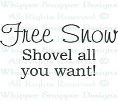 Free Snow - Winter - Seasons - Rubber Stamps - Shop