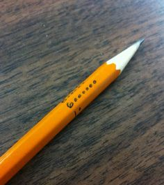 Pencil Dice – Never Look for Dice Again! http://www.mathfilefoldergames.com/pencil-dice-never-look-for-dice-again/ Teachers are you tired of looking for dice to use in your math class? Or are the dice you do use to loud and noisy when used? Here is a simple solution, a regular pencil can double nicely as a 6-sided die. #Math #DiceGames