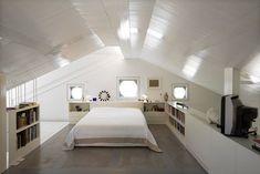 painted white wood ceilings