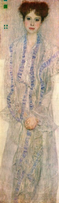 """Portrait of Gertha Felssovanyi"" 1902 by Gustav Klimt"