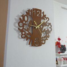 Drevené nástenné hodiny príroda z HDF HORICA Tolkien, Clock, Wall, Vintage, Home Decor, Watch, Decoration Home, Room Decor, Clocks