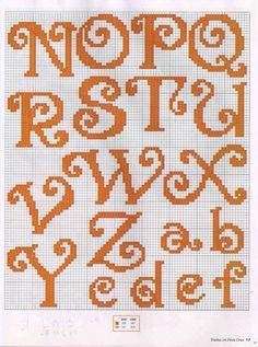 Curly Alphabet N-Z & lower case