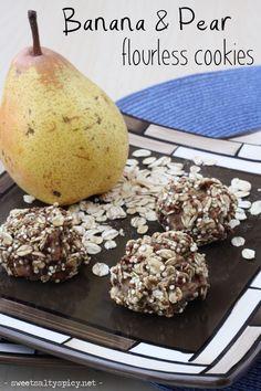 Banana & Pear Flourless Cookies (Vegan, Gluten-Free, Soy-Free, Nut-Free, Oil-Free, The Eczema Diet friendly)