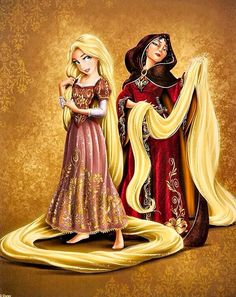 Rapunzel & Mother Gothel (Tangled)