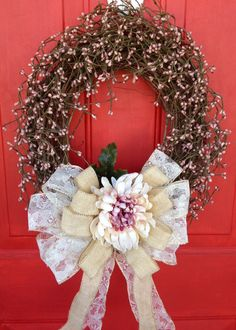 Mauve Pip Berry Wreath - Petal Pusher's Wreaths & Designs