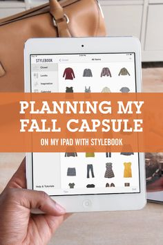 How I created a fall capsule that I can mix and match into 30 fall outfits using the closet app Stylebook