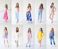 STUDIO DIY Colorful Spring Capsule Wardrobe #springtime #howtowear