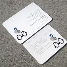OBSESSED. Modern Penguin Wedding Invitation Sample set by StelieDesigns, $5.00