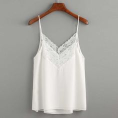 Women Casual Sleeveless Lace Stitching Crop Top Vest Tank Shirt Blouse Cami Top
