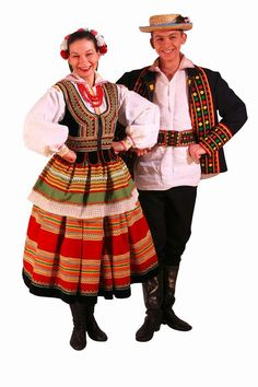 Tradicional costume from the Krzczonów region Art Costume, Folk Costume, Ethnic Outfits, Ethnic Clothes, Polish Folk Art, Costumes Around The World, Beautiful Costumes, Historical Clothing, People Around The World