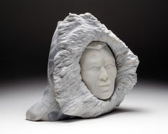 """""""Windswept Inuk"""" by Billy Gauthier, Inuit artist (LG141201)"""