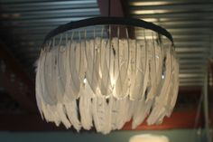 feather hanging lamp