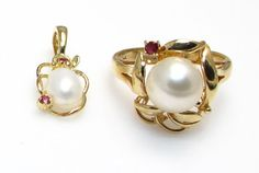 14k Yellow Gold Freshwater Cultured Pearl and by WatchandWares