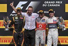 Podio Gran Premio de Montreal 2012 #F1