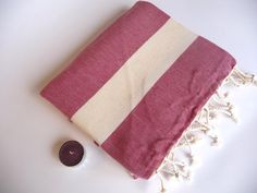 Natural Soft Cotton BathSpa Beach Towel Handwoven by TheAnatolian, $28.90