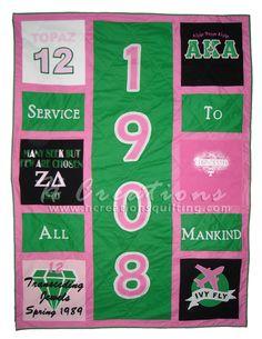 Alpha Kappa Alpha custom quilt- Shoutout to the home team! #PrettyZD