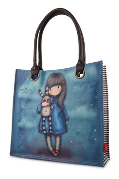 Gorjuss Coated Shopper Bag - Hush little Bunny. FREE Delivery and 10% OFF your first order at schoolbagstation.com