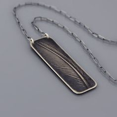 Sterling Silver Feather Necklace by Lisa Hopkins Design