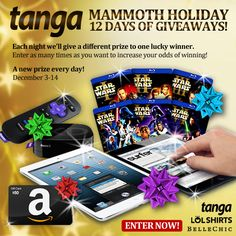 Tanga Mommoth Holiday 12 Days of Giveaways!